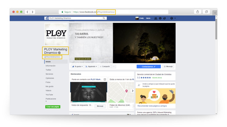 optimización de Facebook